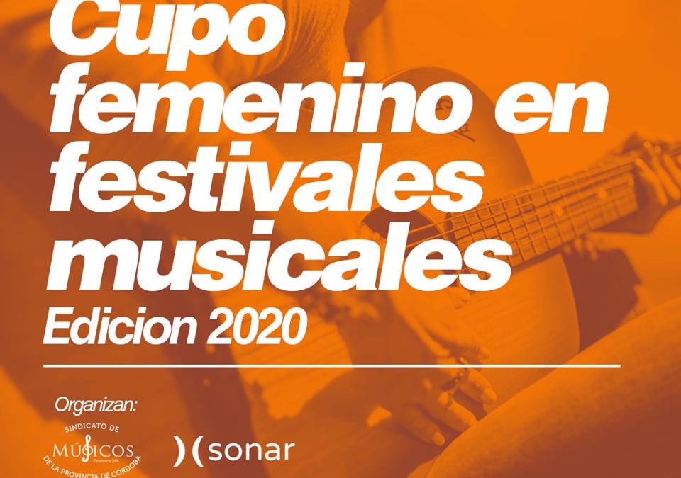 CUPO FEMENINO Y ACCESO DE ARTISTAS MUJERES A EVENTOS MUSICALES (2020)