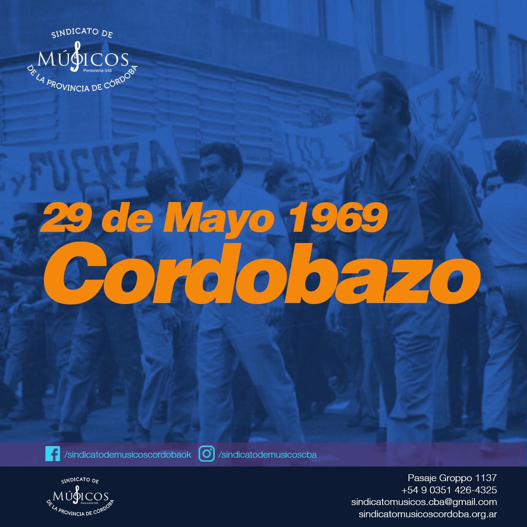 Aniversario del Cordobazo 29 de Mayo 1969 – 2020