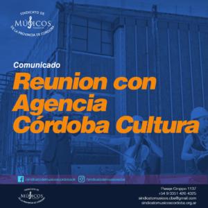 comunicado reunion con agencia córdoba cultura
