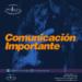 Comunicación importante