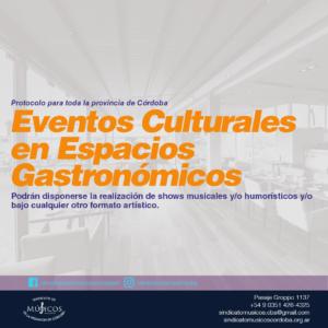 versión infografica de la ACTUALIZACIÓN PROTOCOLO ESPACIOS GASTRONÓMICOS